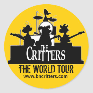 The Critters WORLD TOUR Stickers