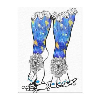 The Crochet Sandals Canvas Print