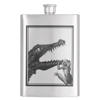 The Crocodile and the Frog Flask