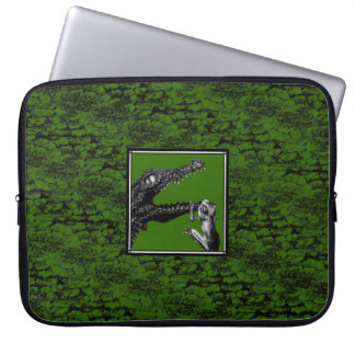 The Crocodile and the Frog Computer Sleeve