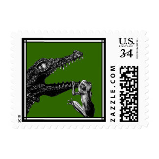 The Crocodile and the Frog Postage