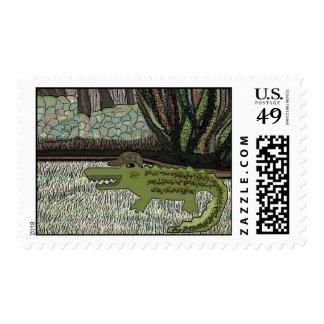 The Crocodile Walk Postage Stamp