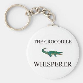 The Crocodile Whisperer Basic Round Button Keychain