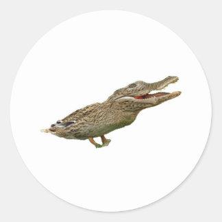 The Crocoduck Classic Round Sticker