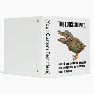 The Crocoduck Deception 3 Ring Binder
