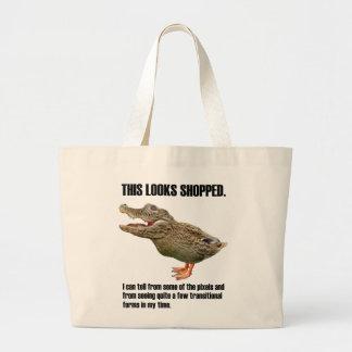 The Crocoduck Deception Large Tote Bag