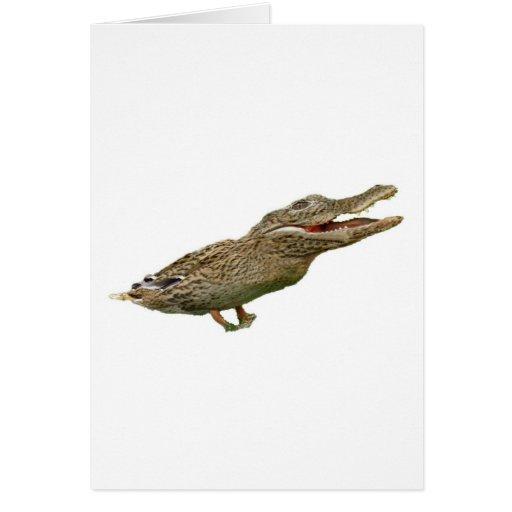 The Crocoduck Greeting Card