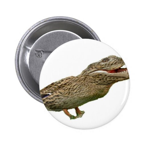 The Crocoduck Pinback Buttons