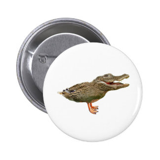 The Crocoduck with feet Pinback Button