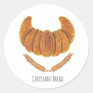The Croissant Bread Classic Round Sticker