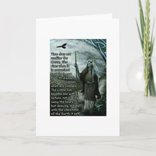 The crone wiccan pagan greeting card zazzle the crone wiccan pagan greeting card m4hsunfo