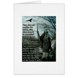The Crone Wiccan Pagan Greeting Card