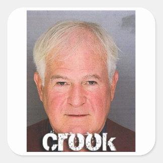 The Crook Sticker. Square Sticker