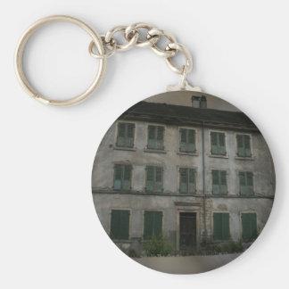 The crooked house, Basel, Switzerland Basic Round Button Keychain