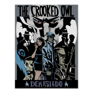 The Crooked Owl Print/Poster Poster