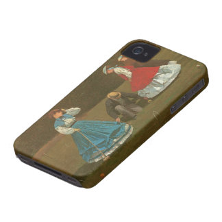 The croquet game, 1866 (oil on canvas) iPhone 4 Case-Mate case