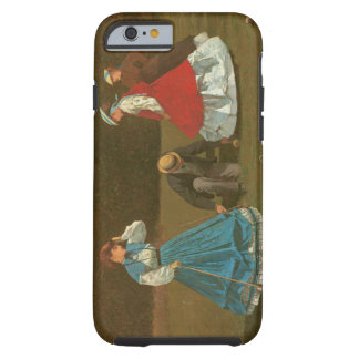 The croquet game, 1866 (oil on canvas) tough iPhone 6 case