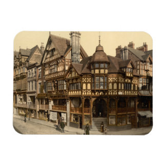 The Cross and Rows, Chester, Cheshire, England Rectangular Magnet