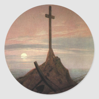 The Cross Beside The Baltic Classic Round Sticker