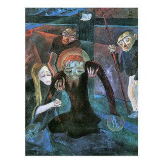 The cross by Walter Gramatte Postcard