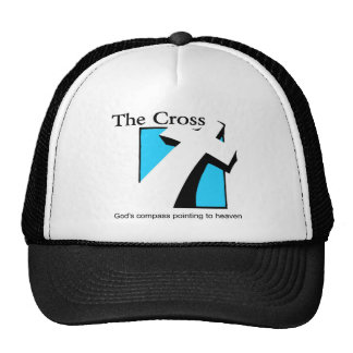 The Cross, God's compass pointing to heaven gift Trucker Hat