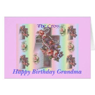 The Cross, Happy Birthday Grandma, Card