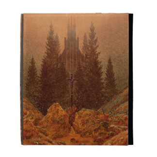 The Cross in the Mountains, 1812 (oil on canvas) iPad Case