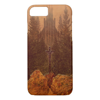 The Cross in the Mountains, 1812 (oil on canvas) iPhone 8/7 Case