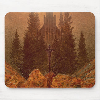 The Cross in the Mountains, 1812 (oil on canvas) Mouse Pad