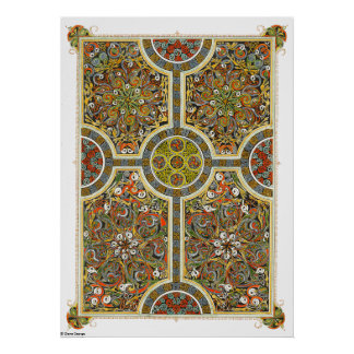 The Cross of Bride and Mary Celtic Art Poster