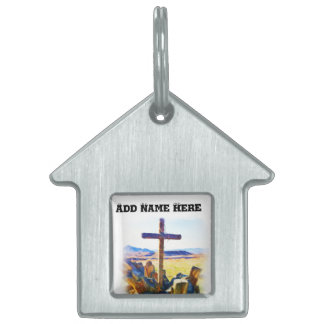 The Cross of Salvation-Saved_ Pet Tag