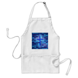 The Cross on ceramic tiles. Adult Apron