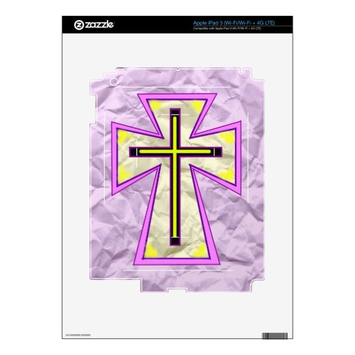 The Cross on Foil> Decals For iPad 3