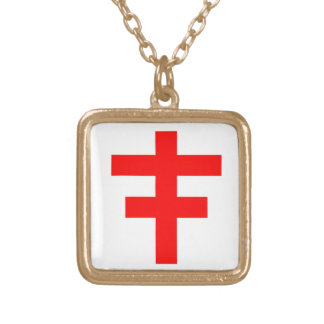 The Cross Pattee of The Scottish Knights Templar Gold Plated Necklace