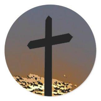 The Cross Round Sticker