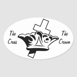 The Cross & The Crown Oval Sticker