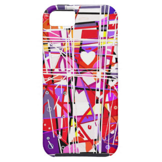 The Cross with hearts. iPhone 5 Covers