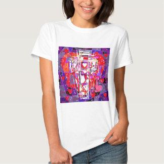The Cross with hearts. Tee Shirt