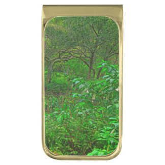The Crossing By The Trees Gold Finish Money Clip