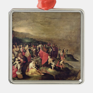 The Crossing of the Red Sea Square Metal Christmas Ornament