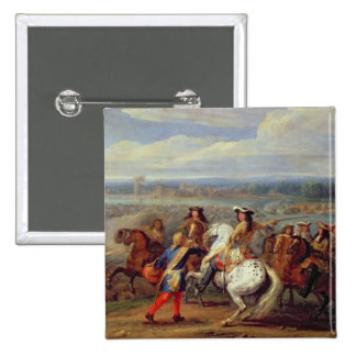 The Crossing of the Rhine, 12th June 1672 (oil on Pins