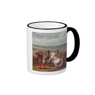 The Crossing of the Rhine, 12th June 1672 (oil on Ringer Mug