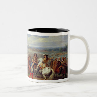 The Crossing of the Rhine, 12th June 1672 (oil on Two-Tone Coffee Mug