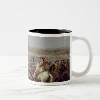 The Crossing of the Rhine, 12th June 1672 Two-Tone Coffee Mug