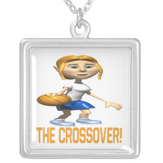 The Crossover Square Pendant Necklace