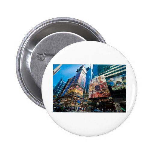 """""""The Crossroads of the World"""" Pinback Buttons"""