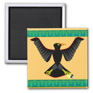 The Crow 2 Inch Square Magnet