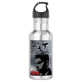 The Crow and man Water Bottle