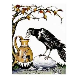 The Crow and the Pitcher Postcard