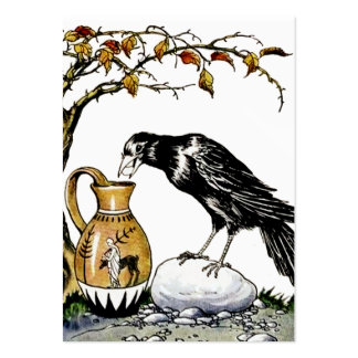The Crow and the Pitcher Profile Card Large Business Card